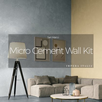 Micro cement wall kit