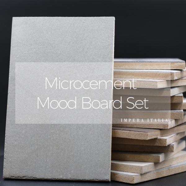Microcement mood board set