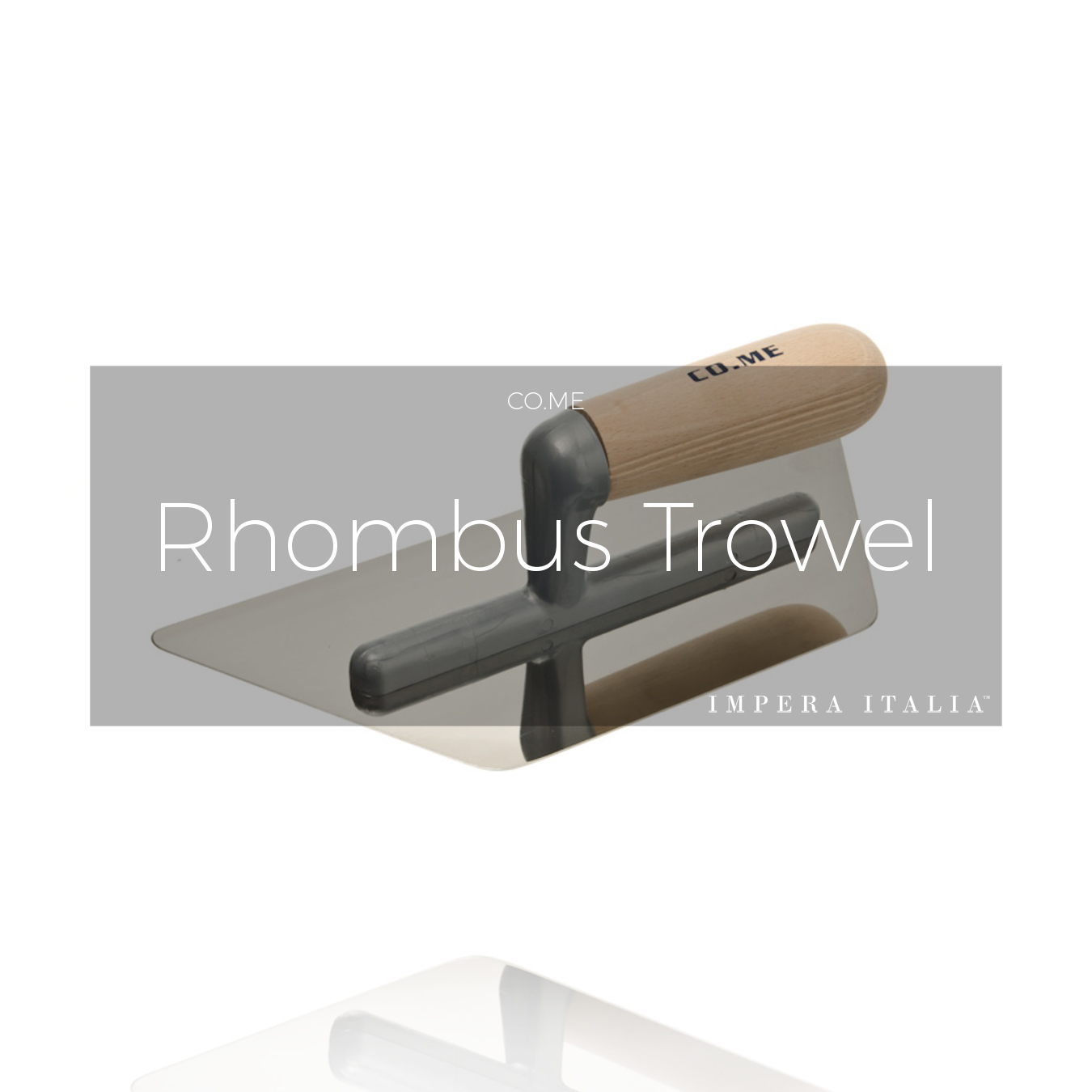 Come Rhombus trowel wooden handle
